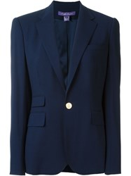 Ralph Lauren One Button Blazer Blue