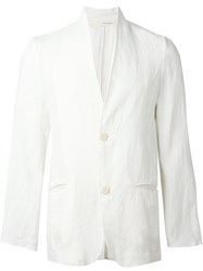 Isabel Benenato Single Breasted Blazer White