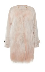 Genny Fur And Wool Coat Pink