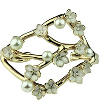 Shaun Leane Cherry Blossom Yellow Gold Vermeil Diamond And Pearl Cuff