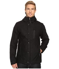 Nau Prato Wool Synfill Jacket Caviar Heather Men's Coat Black
