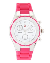 Michele Tahitian Jelly Bean Watch Hot Pink