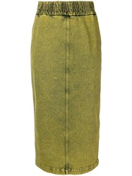 N 21 No21 Denim Pencil Skirt Yellow