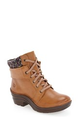 Bionica Women's 'Romulus' Boot New Caramel Purple Leather
