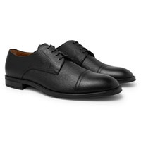 Hugo Boss Coventry Textured Leather Derby Shoes Black