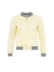 Relish Floral Bomber Jacket Yellow