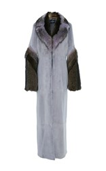 J. Mendel Mink Maxi Coat Purple