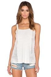 Sam Edelman Crochet Pointelle Tank White