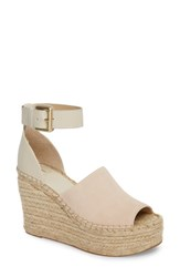Marc Fisher Ltd Adalyn Espadrille Wedge Sandal Ivory Suede
