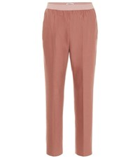 Agnona Wool And Cashmere Blend Pants Pink