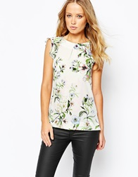 Warehouse Blossom Floral Print Shell Top Multi