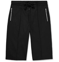 Maison Martin Margiela Wide Leg Virgin Wool Drawstring Shorts Black