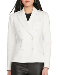 Polo Ralph Lauren Twill Double Breasted Blazer Off White