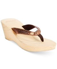 Reef Reefwood Ii Wedge Thong Sandals Women's Shoes