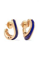 Fernando Jorge Stream 18 Karat Rose Gold Lapis Lazuli Earrings