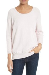 Soft Joie Women's Aimi Cotton Blend Sweater Heather Pale Pink