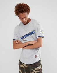 Mitchell And Ness Nba Golden State Warriors Retro T Shirt In Grey