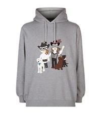 Dolce And Gabbana Western Family Hooded Sweatshirt Male Grey
