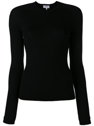 Carven Ribbed Slim Fit Jumper Women Wool M Black