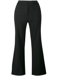Osman Yasmin Cropped Trousers Women Spandex Elastane Viscose Wool 12 Black