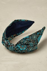 Anthropologie Daisy Brocade Headband Blue