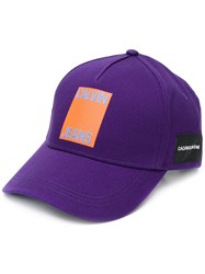Calvin Klein Jeans Logo Patch Cap Purple