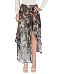 Alessandra Marchi Long Skirts Grey