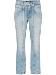 Adaptation Rider Cropped Skinny Jeans Blue