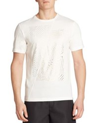 Saks Fifth Avenue X Anthony Davis S5a Metallic Graphic Tee Gallery White
