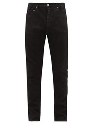Rick Owens Drkshdw Detroit Cut Stretch Cotton Blend Jeans Black