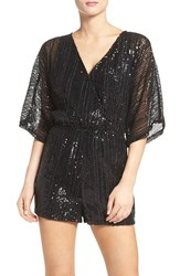 Bb Dakota Women's Clare Sequin Romper