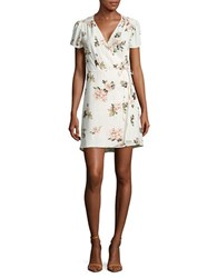 Design Lab Lord And Taylor Floral Wrap Dress Ivory