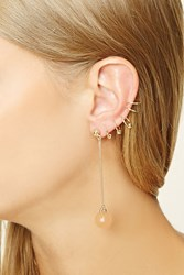 Forever 21 Ear Cuff And Drop Earring Set Gold