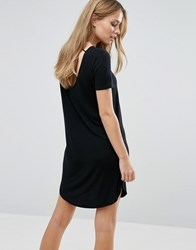 Vila Short Sleeve T Shirt Dress Black