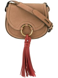 Tory Burch Tassel Detail Crossbody Bag Brown