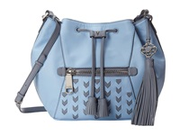Rafe New York Ariana Medium Drawstring Sky Drawstring Handbags Blue
