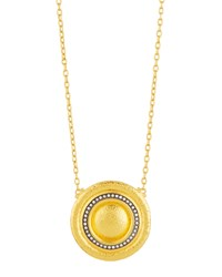 Gurhan Celestial 24K Pave Diamond Disc Pendant Necklace Women's