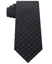 Kenneth Cole Reaction Men's Panel Silk Tie Charcoal