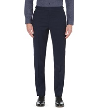 Reiss Lester Modern Fit Wool Trousers Blue