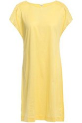 Eres Woman Ornella Braid Trimmed Cotton Jersey Mini Dress Yellow