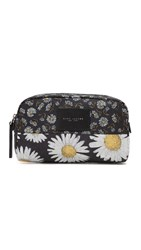 Marc Jacobs B.Y.O.T Mixed Daisy Flower Large Cosmetic Case Black