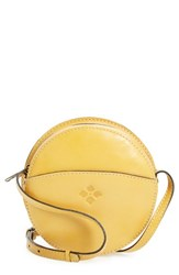 Patricia Nash 'Small Scafati' Leather Crossbody Bag Yellow