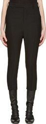 Rick Owens Black Classic Cropped Trousers