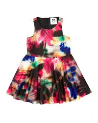 Milly Minis Graffiti Print A Line Racerback Dress Black Multicolor