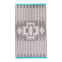 Pendleton Oversized Jacquard Beach Towel Harding Grey