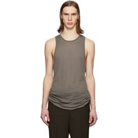 Rick Owens Grey Anthem Rib Tank Top