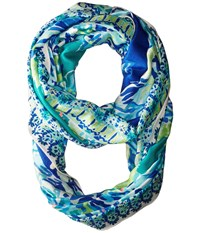 Lilly Pulitzer Riley Infinity Brilliant Blue Wade And Sea Engineered Scarves