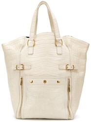 Yves Saint Laurent Vintage Tote Bag Nude And Neutrals