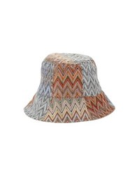 Bcbgmaxazria Knitted Reversible Bucket Hat Multi Colored
