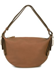 Salvatore Ferragamo Gancio Hobo Shoulder Bag Brown